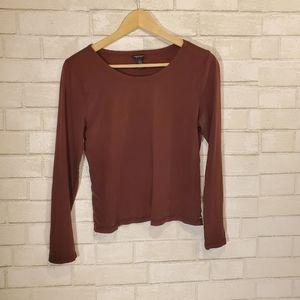 AEO brown long sleeve top